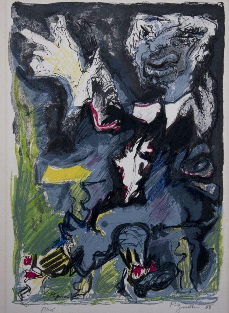 Lithograph Pignon - Le charlatan