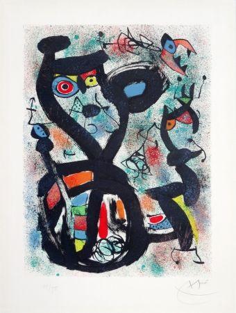 Lithograph Miró - Le chat