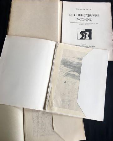 Illustrated Book Picasso - LE CHEF-D'ŒUVRE INCONNU. Eaux-fortes originales de Pablo Picasso (exemplaire sur Japon signé avec suite. 1931).