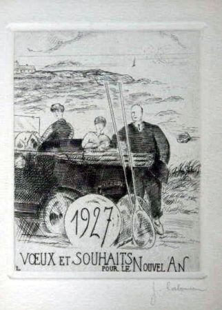 Engraving Laboureur - Le chemin cotier