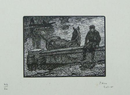 Woodcut Colin - Le Cheval Au Bain