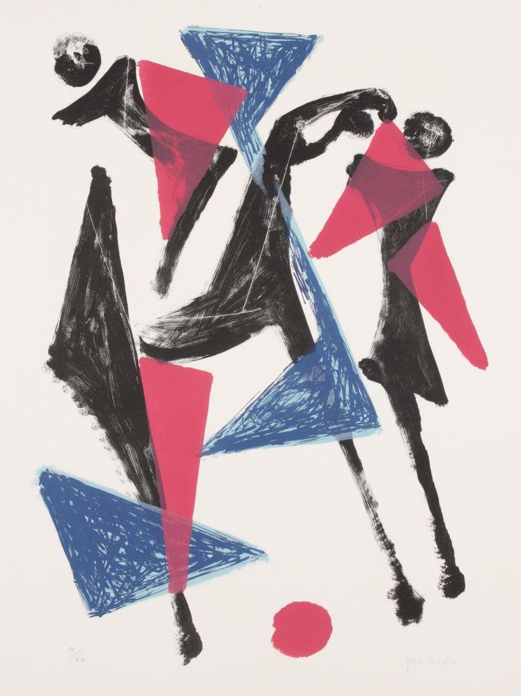 Lithograph Marini - Le Cheval au Manege