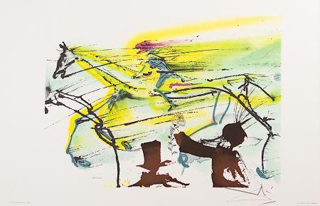 Lithograph Dali - Le Cheval de Course (Race Horse)