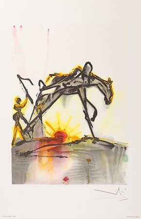 Lithograph Dali - Le Cheval de Labeur (The Horse of Labor)
