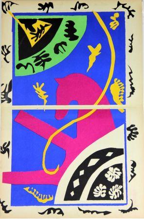 Lithograph Matisse - Le Cheval L'ecuyere Et Le Clown De La Serie Jazz