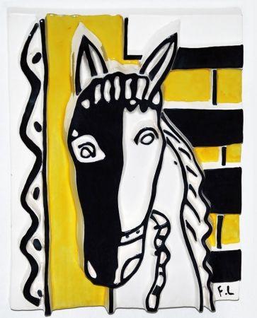 Ceramic Leger - Le Cheval sur fond jaune