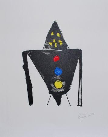 Lithograph Ionesco - Le chevalier noir
