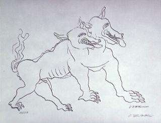 Lithograph Zadkine - Le Chien De Gerion (B)