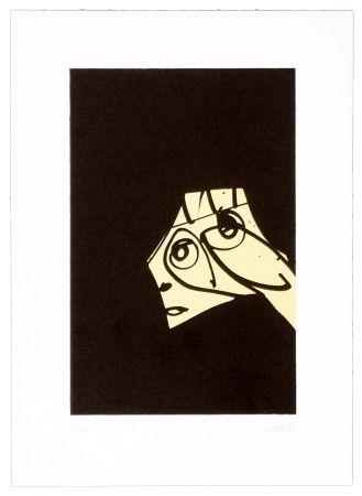 Lithograph Saura - Le chien de Goya