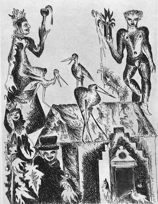 Engraving Haz - Le cicogne