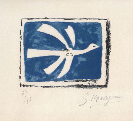 Lithograph Braque - Le ciel bleu