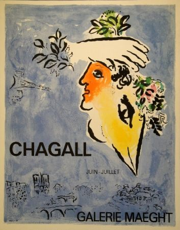 Lithograph Chagall - Le Ciel Bleu / Blauer Himmel
