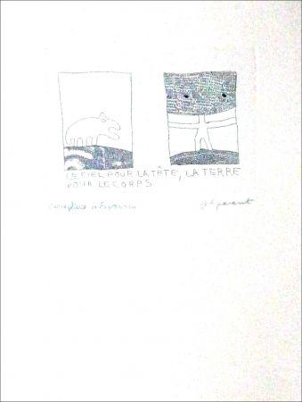 Engraving Parant - LE CIEL POUR LA TETE, LA TERRE POUR LE CORPS
