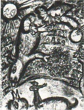 Lithograph Chagall - Le Cirque, planche 37