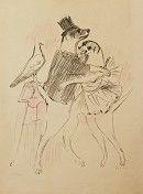 Lithograph Vertes - Le Cirque (The Circus) #8