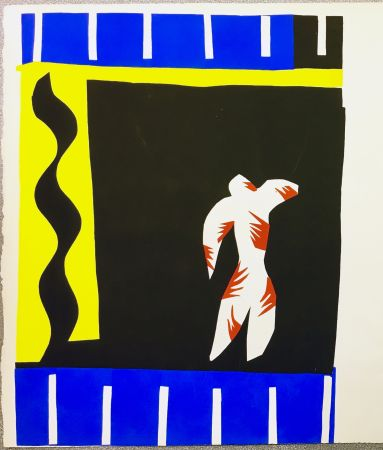Pochoir Matisse - LE CLOWN. Pochoir original de Jazz (Frontispice de l'album. 1947)