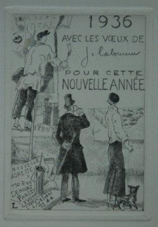 Engraving Laboureur - Le Colleur d'affiches
