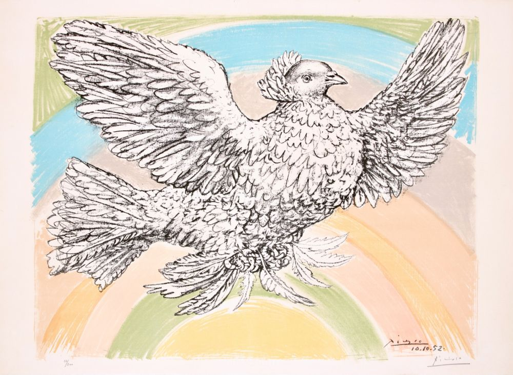 Lithograph Picasso - Le Colombe Volant