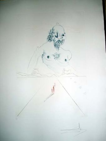 Drypoint Dali - Le Colosse