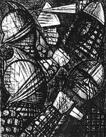 Engraving Gromaire - Le combat