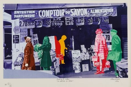 Screenprint Fromanger - Le Comptoir du Savon