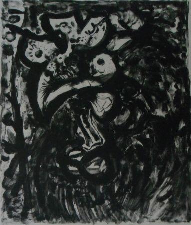 Lithograph Pignon - Le coq
