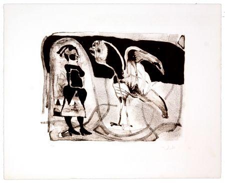 Lithograph Toledo - Le coq