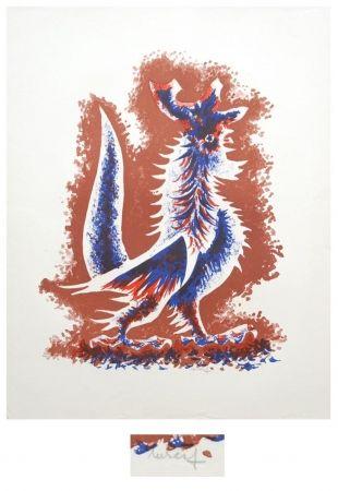 Lithograph Lurcat - Le coq