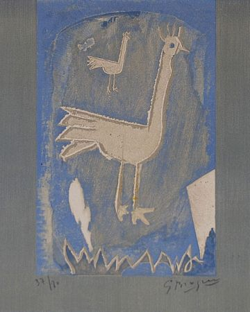 Lithograph Braque - Le coq