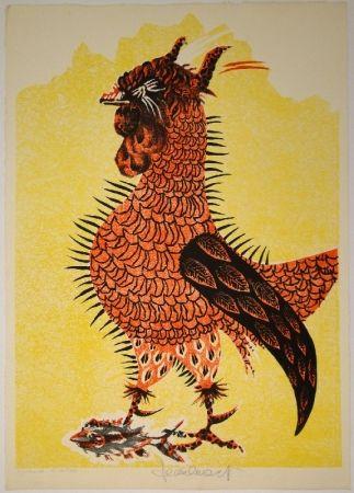 Lithograph Lurcat - Le Coq rouge