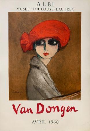 Lithograph Van Dongen - Le Coquelicot