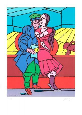 Lithograph Adami - Le couple