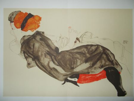 Lithograph Schiele - Le couple
