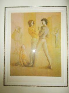 Lithograph Fini - Le cour de danse