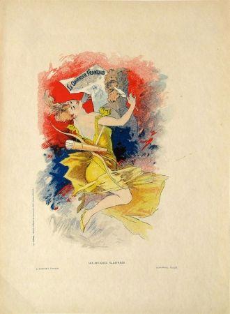 Lithograph Cheret - Le Courier Francais
