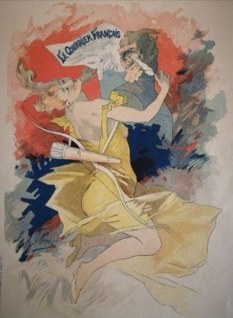 Lithograph Cheret - Le Courrier Français