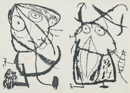 Etching And Aquatint Miró - Le Courtisan Grotesque