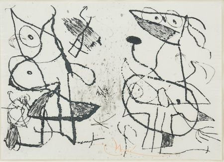 Etching And Aquatint Miró - Le Courtisan Grotesque II