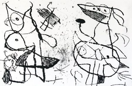 Etching And Aquatint Miró - Le Courtisan Grotesque XII