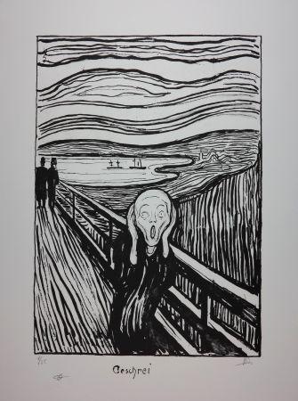 Lithograph Munch - LE CRI / THE SCREAM / GESCHREI - 1895