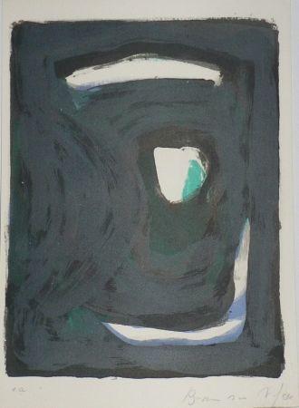 Lithograph Van Velde - Le crime d'une nuit