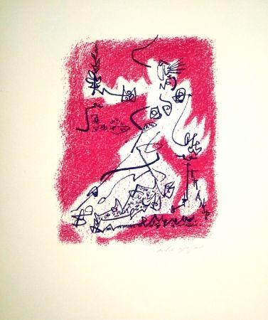 Lithograph Masson - Le départ