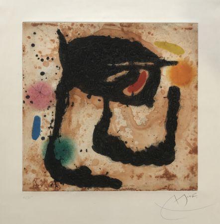 Etching And Aquatint Miró - Le Dandy