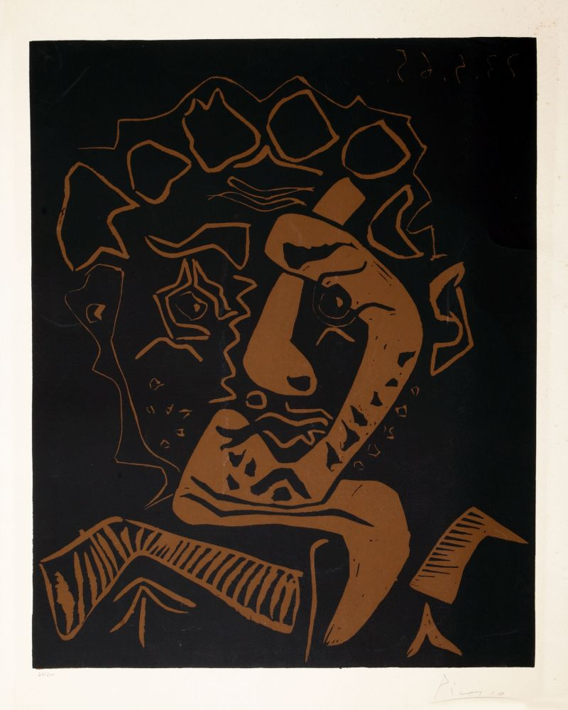 Linocut Picasso - LE DANSEUR