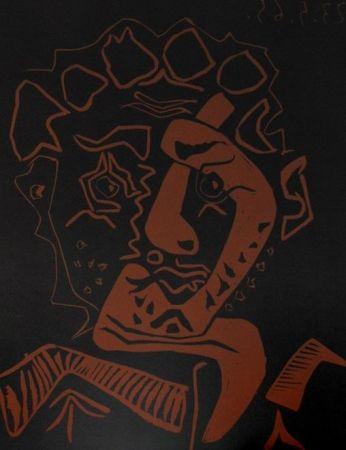 Linocut Picasso - Le Danseur, Dancer