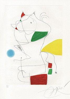 Etching And Aquatint Miró -