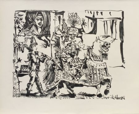 Lithograph Picasso - Le Depart (The Departure) (B. 686)
