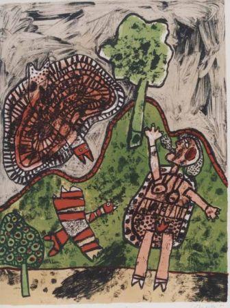 Lithograph Corneille - Le dialogue avec l'arbre