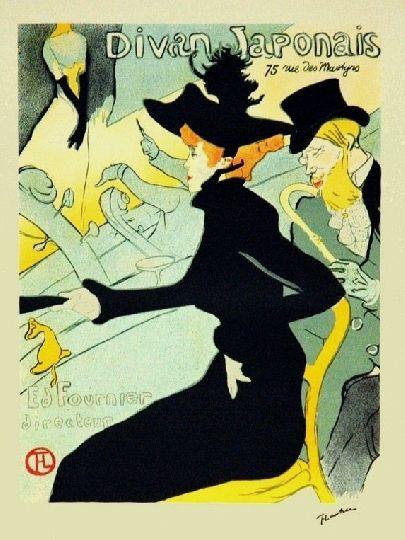 Lithograph Toulouse-Lautrec - Le divan japonais