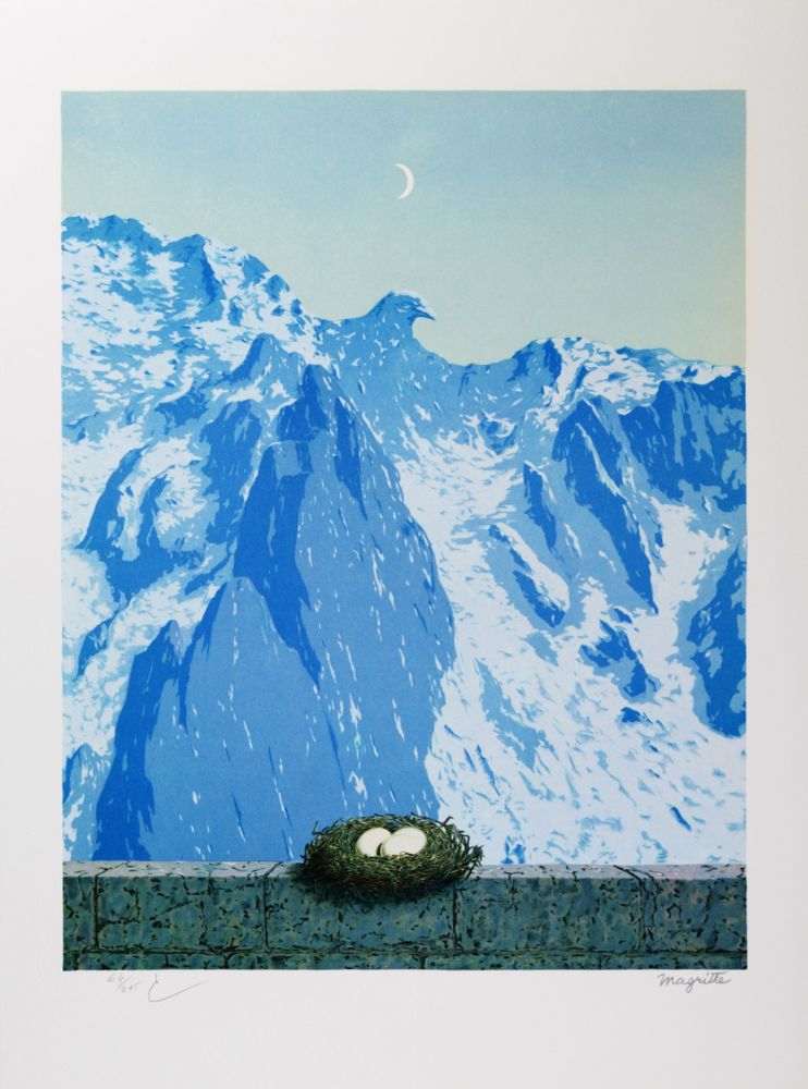 Lithograph Magritte - Le Domaine d'Arnheim (The Domain of Arnheim)